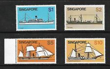 Singapore 1980 ships high value definitives. MNH