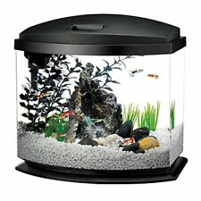 NEW Aqueon LED MiniBow Aquarium Starter Kits with LED Lighting, 5 Gallon, Black