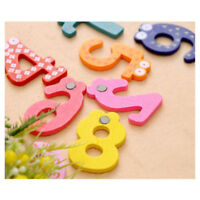 Wooden Fridge Magnet A-Z Educational Toy Baby Kid Learning Gifts Number Decor