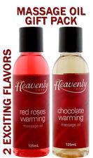 Heavenly Nights Warming Massage Oil Valentines Gift Pack - 2 x 125ml Bottles