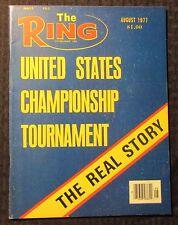 1977 Aug THE RING Boxing Magazine FN 6.0 United States Championship Tournament