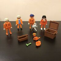Playmobil vintage figures 1974 Geobra Workmen People Construction Workmen