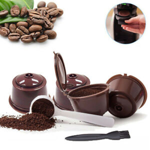4x Set Refillable Coffee Tea Capsule Cup Dolce Gusto Nescafe Reusable Filter Pod