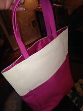 ~NEW~Lancome Pink & Creme tote bag & satiny lining inside Very Nice
