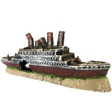 Slocme Aquarium Titanic Shipwreck Decorations - Fish Tank Resin Material Titanic