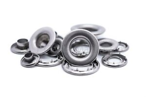 Grommets eyelets marine grade stainless steel rolled rim heavy duty 7mm - 16mm