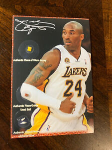 Kobe Bryant worn relics Jersey Basketball Game Floor NBA Lakers Non Auto Card