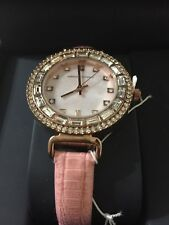 ADRIENNE VITTADINI LADIES WATCH WITH MOP DIAL BAGUETTES AND CRYSTALS NEW IN BOX