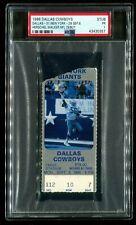 PSA Ticket Football 1986 Dallas Cowboys NY Giants 9/8 Herschel Walker Debut