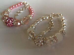 *New Baby Bling Shamaballa & Crystal Bracelet Gift *m2m Princess Dummy Clip*