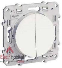 Double bouton poussoir Schneider Odace blanc S520216