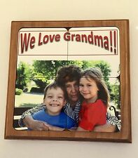 Personalized Coaster Gift Set For Grandma!Your Picture Coaster Set,Free Shipping