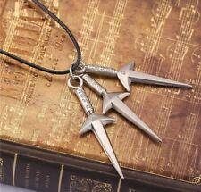 Naruto 3 Kunai Necklace Pendant Anime Cosplay 6cm US Seller