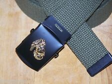 USMC Belt & Buckle Web Marine Corps Military Style Semper Fi with P38