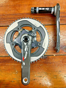 SRAM Red Carbon Crank 170mm w/ QUARQ ant+ 130bcd Power Meter Spider