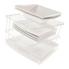 Schrankeinsatz - Küchenschrank Organizer, Tellerregal - 2 Etagen - Weiß
