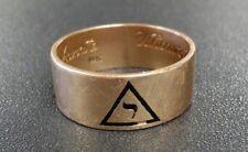 Men's | 14k Masonic Shriner | 3.7 DWT | Whom Virtue Unites Death Cannot Separate
