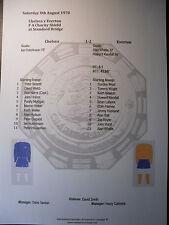 1970 FA Charity Shield Chelsea v Everton Matchsheet