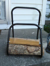 Log Carrier/Stand - Tube Steel, Self Balancing Design - Tote Logs with Ease