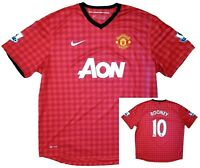 Manchester United Jersey XXL Rooney #10 2012-13 Nike Home Red Authentic AON Kit