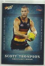 2013 AFL CHAMPIONS BF01 Scott Thompson Adelaide CROWS Best and Fairest CARD