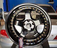 """ESR SR06 Wheels Gloss Black 18x9.5"""" +22 Offset Meister Professor EVO GTR"""
