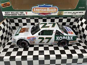 Ertl L.E. NASCAR 1989 Rusty Wallace #27 Kodiak Championship Pontiac 1:18 Diecast