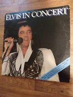 ELVIS PRESLEY IN CONCERT 1977 Vinyl Lp 2 record Set RCA Gatefold VG+