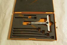 "MITUTOYO DEPTH  MICROMETER 229 - 127.. 0 TO 6.0"" RANGE,  4.0"" BASE   #1"