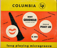 BENNY GOODMAN AND PEGGY LEE - COLUMBIA CL 6033 - 10 IN. LP Record VG