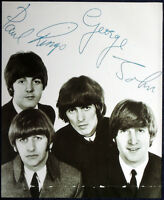 THE BEATLES POSTER PAGE 1966 HAND SIGNED AUTOGRAPHED . JOHN LENNON MCCARTNEY .F3
