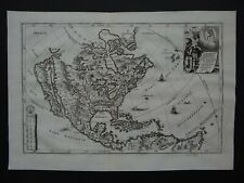 1737 SCHERER  Atlas map NORTH AMERICA - CALIFORNIA ISLAND  America Borealis 1699