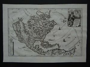 1737 SCHERER  Atlas map NORTH AMERICA - CALIFORNIA ISLAND  America Borealis 1699