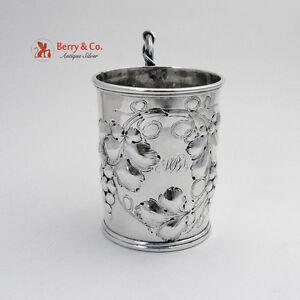 Repousse Grape Cup Coin Silver Jones Shreve Brown 1854 Boston MPES