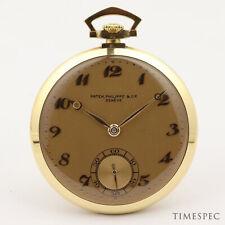 Patek Philippe 18k Yellow Gold 1930s Vintage Pocket Watch