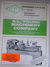 A. L. Young Machinery Co. Reference Catalog No. 400 metal shop equipment lathes