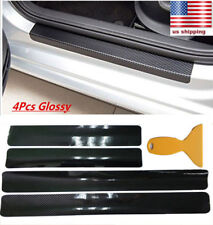 4x 5D For 2015-2018 Ford F150 Car Carbon Fiber Stickers Door Scuff Plate Decals