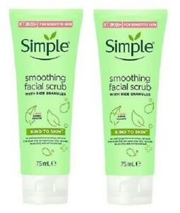 2 x Simple Kind To Skin Soothing Facial Scrub (2 x 75ml)