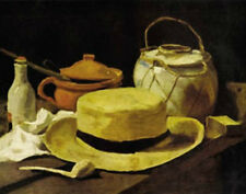 """HAT AND PIPE STILL LIFE POSTER BY VINCENT VAN GOGH  -  MEDIUM 16"""" X 20"""" -  NEW"""