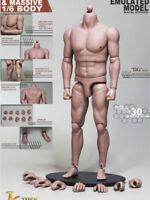 "1/6 JXtoys S02 Bulk Strong Muscular 12"" Figure Body For Bane BW/Neck"