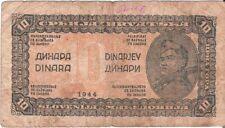 Yugoslavia Yougoslavie 10 Dinara 1944 P-50 WW2 (6061) Good