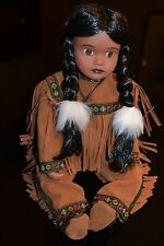 TIMELESS COLLECTIONS + NATIVE INDIAN GIRL + DOLL & HEADDRESS + BRAND NEW IN BOX