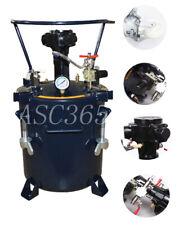 Double Output 20l5gal Pressure Feed Paint Pot Tank Spray Gun 0 100psi 1212