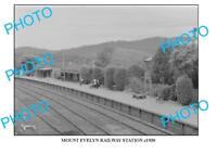 LARGE PHOTO OF OLD MOUNT EVELYN RAILWAY STATION c1930