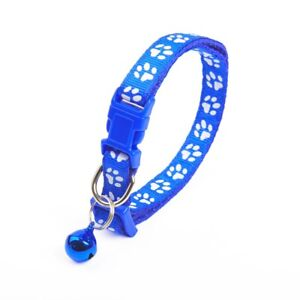 New Blue Adjustable Dog Cat Bell Collar Make Lovely Pet Necklace Free Shipping