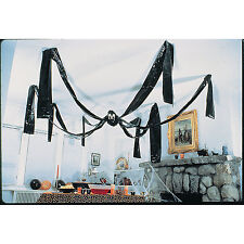 GIANT HANGING BLACK SPIDER HALLOWEEN SPOOKY PARTY DECORATION NEW