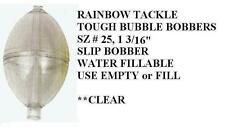 "TOUGH BUBBLE water-fillable SLIP BOBBERS 12 sz small 1 3/16"" CLEAR Rainbow Tackl"