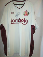 Paolo Di Canio Firmado Sunderland Away camiseta de fútbol Con Coa / 20651 Italia Lazio