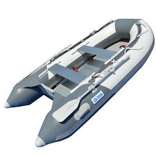 BRIS 9.8 ft Inflatable Boat Dinghy 4 Person Pontoon Boat Tender Fishing Raft