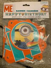 Despicable Me Minions Happy Birthday Letter Banner party decoration